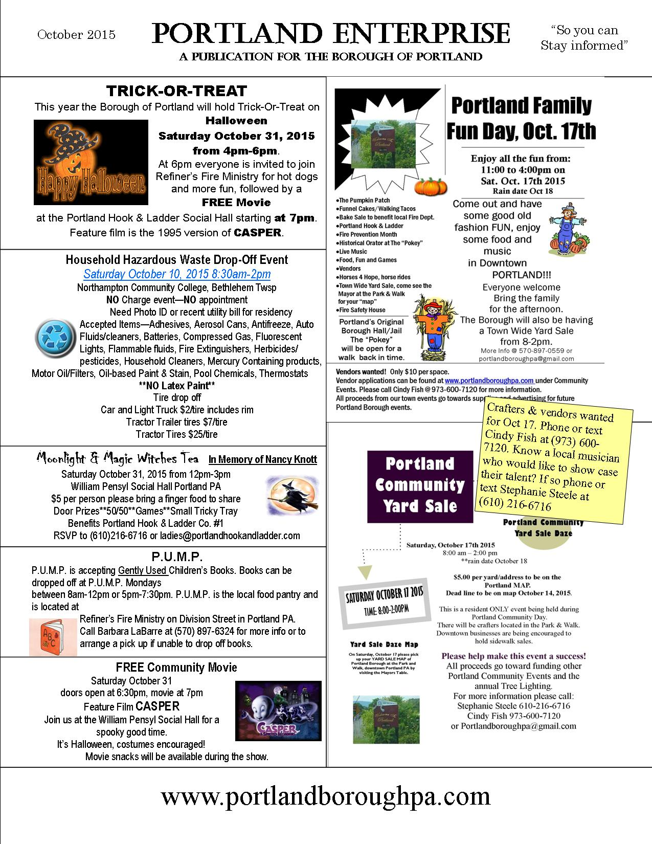 Archived Newsletters 2015 – Borough of Portland