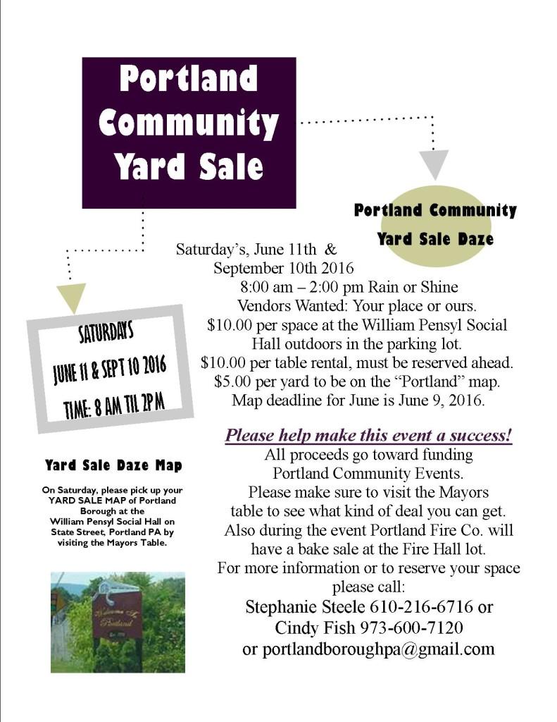 Yard Sale Daze poster 2016