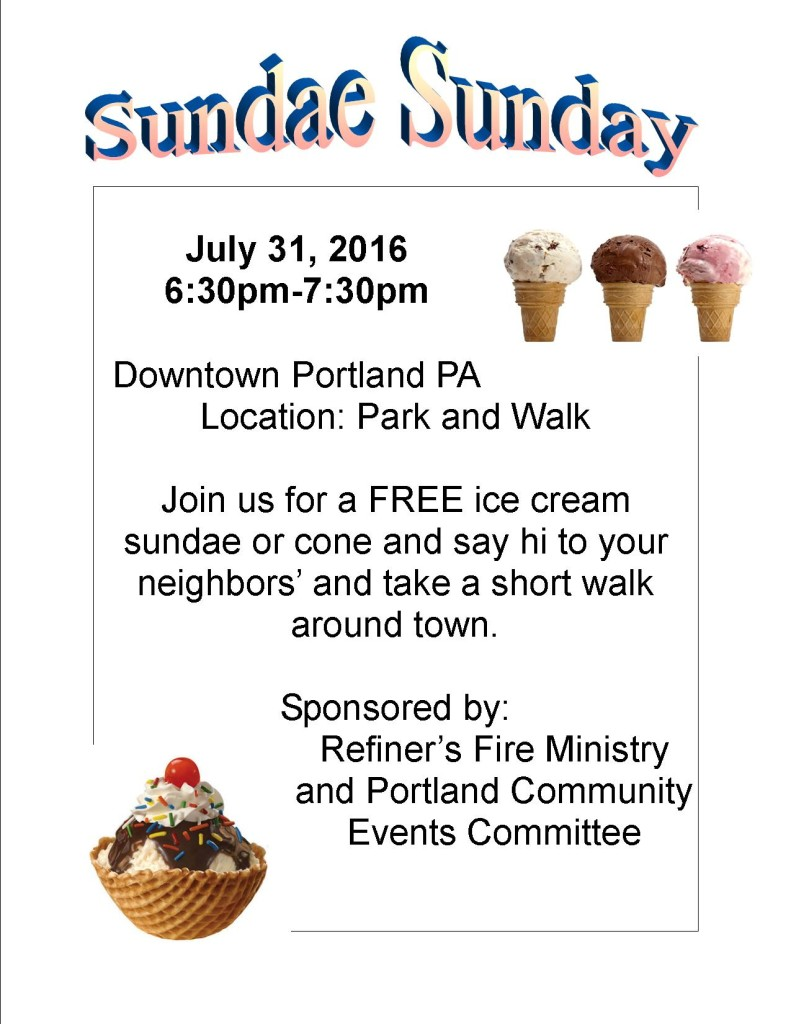 Ice Cream Social July 31 2016