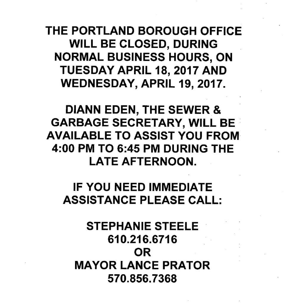 office closed 4-18-17