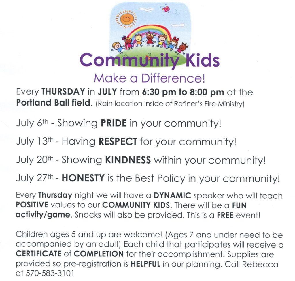 newsletter community kids