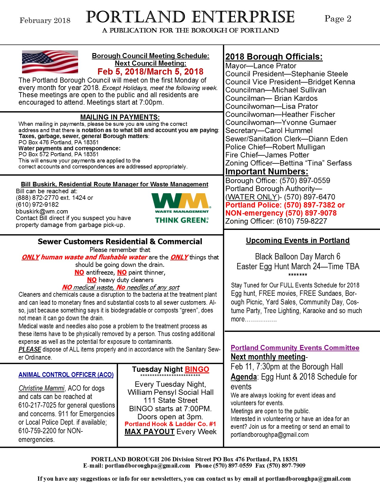 newsletter February 2018 page 2