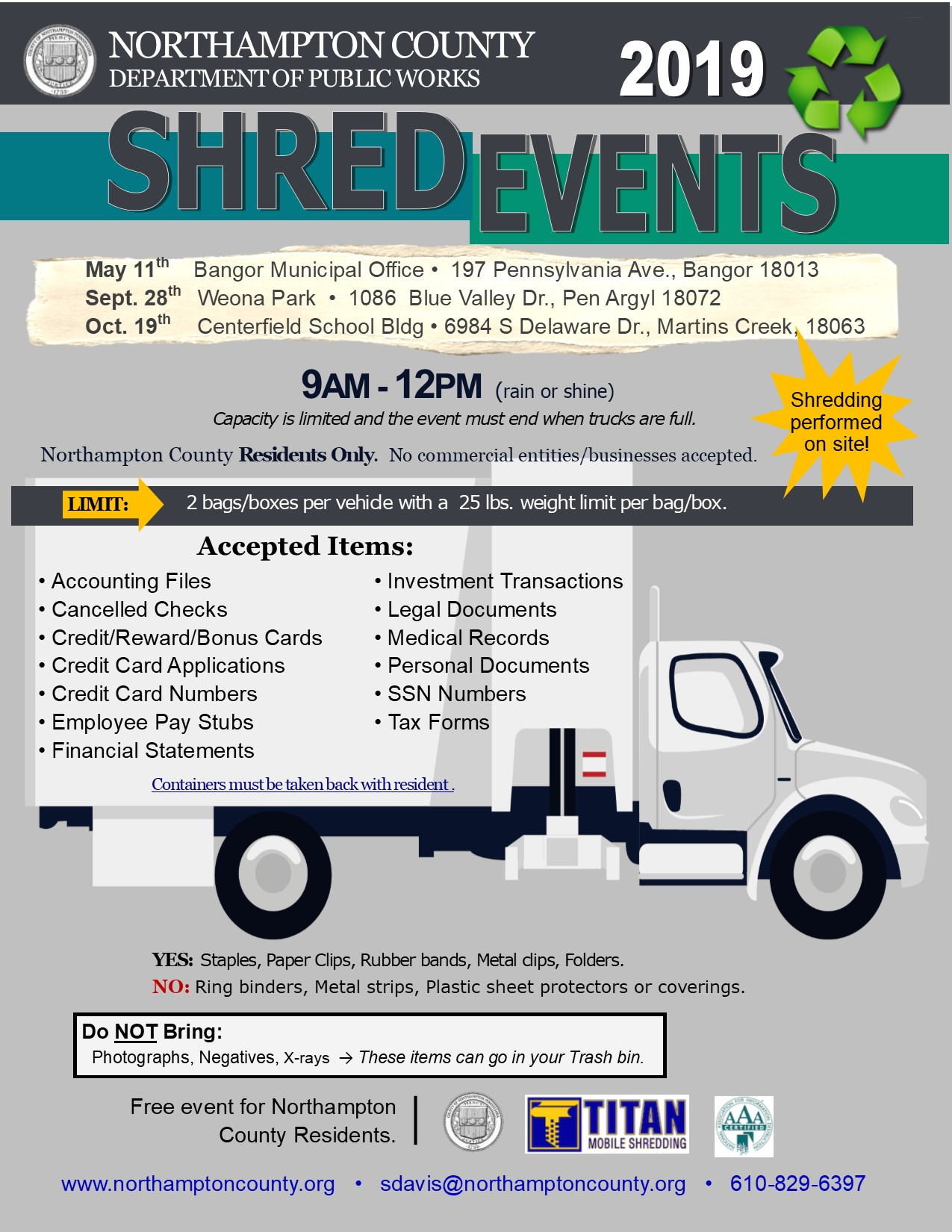 Shred Events 2019 – Borough of Portland